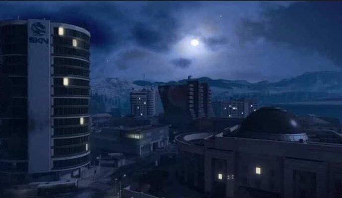 Screenshot einer Nachtversion von Vedansk